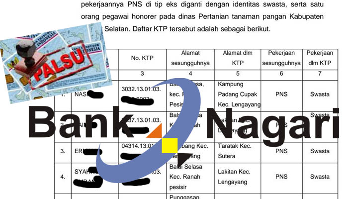 Diduga Akibat Data Palsu, Diperkirakan Bank Nagari Rugi RP. 35 Milyar (Edisi 10)