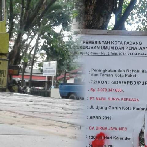 Proyek DPUPR Kota Padang Disinyalir Sarat KKN  yang Rugikan Negara