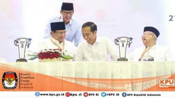 Statistik Debat Perdana Prabowo-Sandi VS Jokowi-Makruf